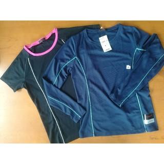 ジーユー(GU)のGU スポーツメッシュ シャツ 半袖 長袖セット(ウェア)