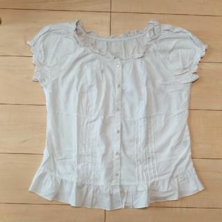 ジーユー(GU)のGU パフスリ フリル シャツ(シャツ/ブラウス(半袖/袖なし))