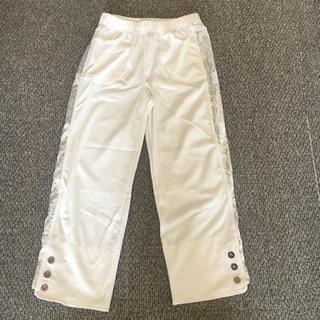 新品 未使用 白 ホワイト ラメ キラキラ スパンコール パンツ ダンス 衣装 (その他)