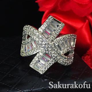 15号 ホワイトサファイア ゴージャス レディース 指輪 ジュエリー アクセサリ(リング(指輪))