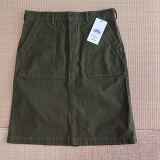 ダントン(DANTON)のDANTONキャンバススカート(ひざ丈スカート)