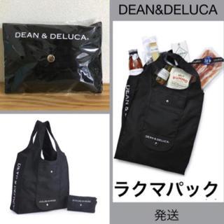 ディーンアンドデルーカ(DEAN & DELUCA)のDEAN&DELUCA オリジナルショッピングバッグ エコバッグ ブラック 新品(エコバッグ)