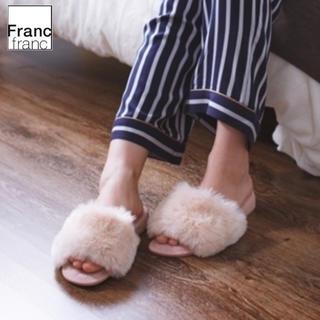 フランフラン(Francfranc)の❤ギフト袋有❤新品タグ付 フランフラン フラッフィー ファー ルームシューズ ❤(スリッパ/ルームシューズ)