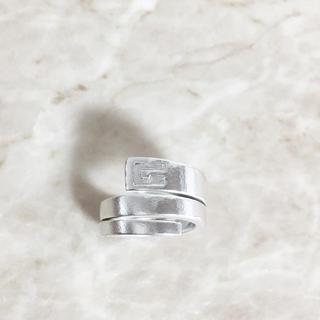 グッチ(Gucci)の正規品 グッチ 指輪 シルバー スネーク 蛇 G 銀 SV925 ロゴ リング(リング(指輪))