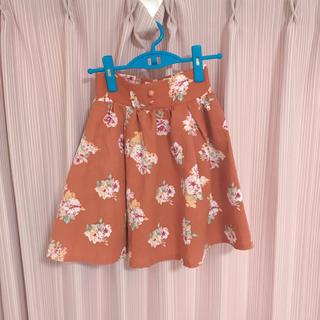 リズリサ(LIZ LISA)のLiz Lisa スカート 花柄 ブラウン(ひざ丈スカート)