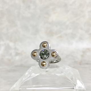 LOUIS VUITTON - 正規品 ヴィトン 指輪 バーグ ラブレターズ M75417 銀 金 石 リング