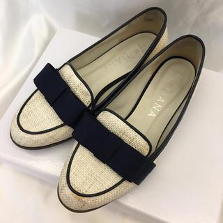 ダイアナ(DIANA)の【DIANA】リボン フラットシューズ パンプス ローファー(ローファー/革靴)