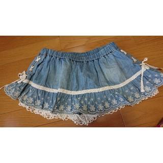 リズリサ(LIZ LISA)のLIZ LISA デニム スカパン Mサイズ(ミニスカート)