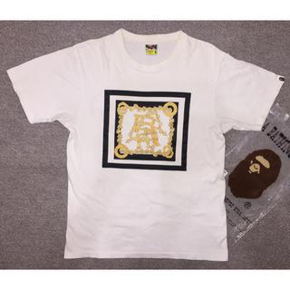 アベイシングエイプ(A BATHING APE)の★希少★APE ロゴ Tシャツ 白 M(Tシャツ/カットソー(半袖/袖なし))