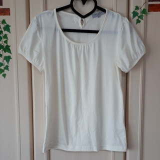 シマムラ(しまむら)のセオリア 後ろリボン半袖トップス (M)(カットソー(半袖/袖なし))