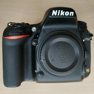 Nikon - Nikon D750 ボディ 美品 保護ラバー付き バッテリー2個 SDカード