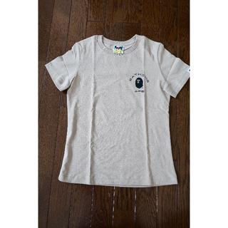 アベイシングエイプ(A BATHING APE)のBAPE エイプ レディース Tシャツ(ベージュ)(Tシャツ(半袖/袖なし))