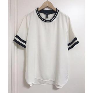 フォーエバートゥエンティーワン(FOREVER 21)のforever21 スポーツミックス クルーネック 半袖ブラウス   s (Tシャツ(半袖/袖なし))