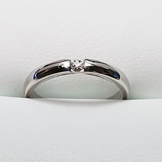 クロスフォー(Crossfor)のK18Wg  天然ダイヤモンドリング(リング(指輪))