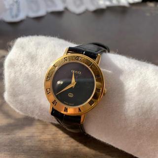 0cca45f685 グッチ 黒 腕時計(レディース)(レザー)の通販 100点以上   Gucciの ...