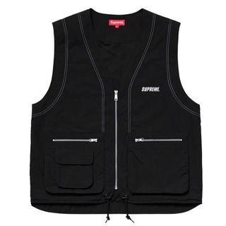シュプリーム(Supreme)の【MサイズBLACKカラー】supreme Nylon Cargo Vest(ベスト)