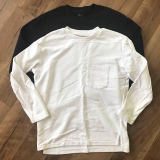 ユニクロ(UNIQLO)のUNIQLO ユニクロ ポケット Tシャツ 白 黒(Tシャツ/カットソー(七分/長袖))