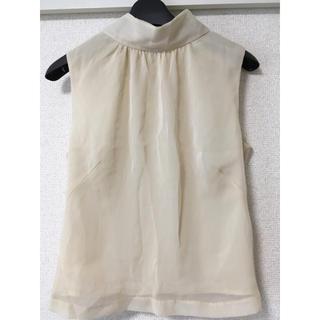 ジーユー(GU)のシースルー ハイネックノースリーブ(シャツ/ブラウス(半袖/袖なし))