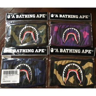 A BATHING APE - BAPE SHARK MASK 4個 セット