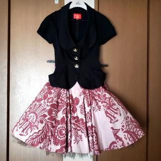 ヴィヴィアンウエストウッド(Vivienne Westwood)のフラワーブロケードチュールスカート(ミニスカート)