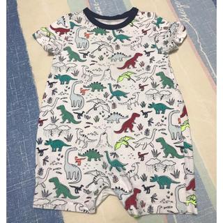 ベビーギャップ(babyGAP)のbaby GAP☆ベビーギャップ☆恐竜総柄ロンパース☆(ロンパース)