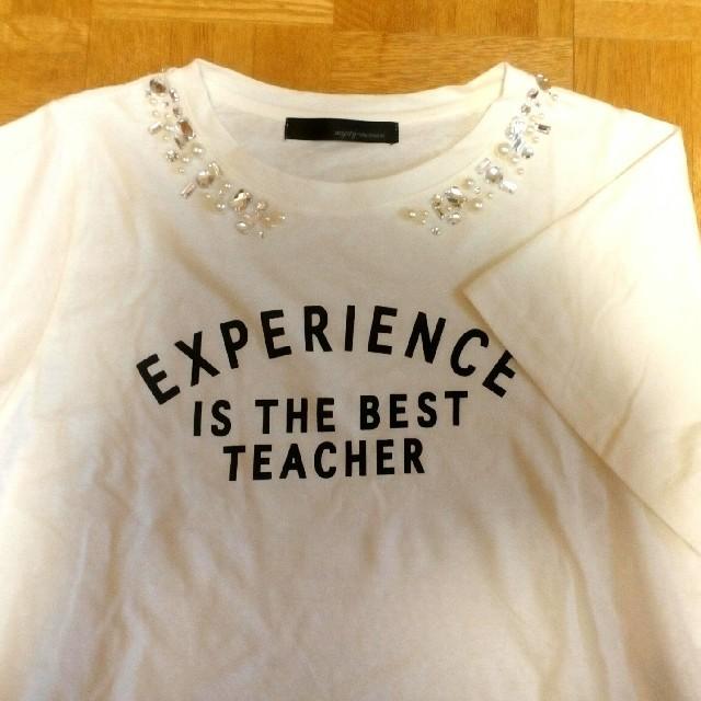 mysty woman(ミスティウーマン)のmysty woman♥ビジュー付きロゴTシャツ レディースのトップス(Tシャツ(半袖/袖なし))の商品写真