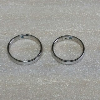 Duet ペアリング ダイヤリング ブルーダイヤ(リング(指輪))