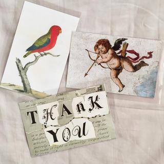 H.P.FRANCE - John Derian ジョンデリアン ポストカード 3枚セット 鳥 サンキュー