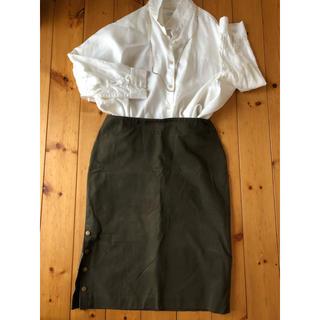 ラルフローレン(Ralph Lauren)のラルフローレン ペンシル型スカート カーキ 11号(ひざ丈スカート)