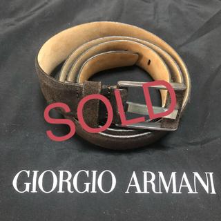 ジョルジオアルマーニ(Giorgio Armani)のGIORGIO ARMANI ブラウンスエード(ベルト)