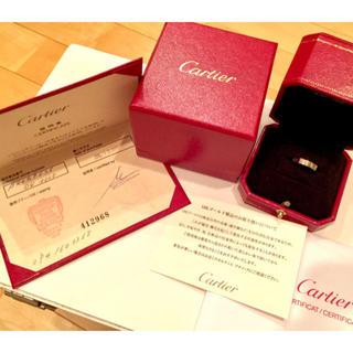 カルティエ(Cartier)のH♡様専用 ミニラブリング 750WG K18WG #48サイズ 箱 保証書あり(リング(指輪))