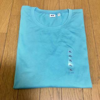 ユニクロ(UNIQLO)のUNIQLO/XL/men's  長袖 プレミアムコットン肌触り柔らか!ミント(Tシャツ/カットソー(七分/長袖))