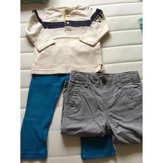 ベビーギャップ(babyGAP)のお買得‼️baby Gap 80cm 長袖Tシャツ&パンツ 2本set(その他)