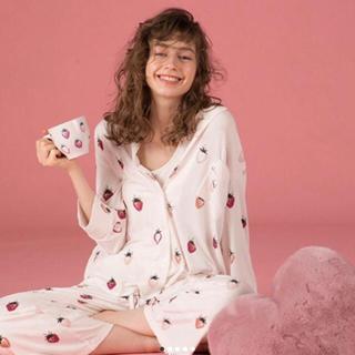 ジェラートピケ(gelato pique)のgelato pique ♡ストロベリーシャツ&ロングパンツ🍓新品未使用🍊(パジャマ)