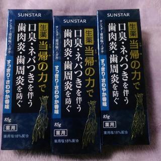 サンスター(SUNSTAR)のサンスター薬用塩歯みがき粉3本セット(歯磨き粉)