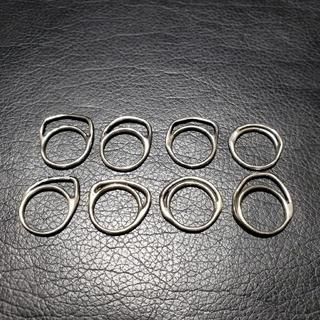 イオッセリアーニ(IOSSELLIANI)のアミリー様専用 イオッセリアーニ 8連 パズルリング シルバー(リング(指輪))