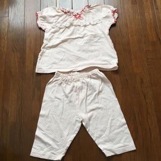 ニシマツヤ(西松屋)の西松屋 パジャマ 80 半袖 ドット 女の子 赤(パジャマ)