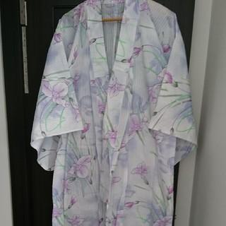 美品*浴衣*白×紫*菖蒲*祭*夏*京都*(浴衣)