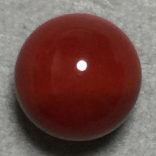 f37 天然 煌 濃赤本珊瑚 片穴 8.33 mm 3.95 ct 0.79g(リング(指輪))