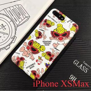 ヒステリックミニ(HYSTERIC MINI)のiPhone  XSMaxヒスミニ  ソフトケース  新品   白(iPhoneケース)