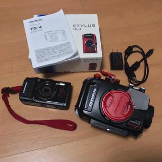 OLYMPUS - OLYMPUS TG-4 PT-056 セット 水中カメラ