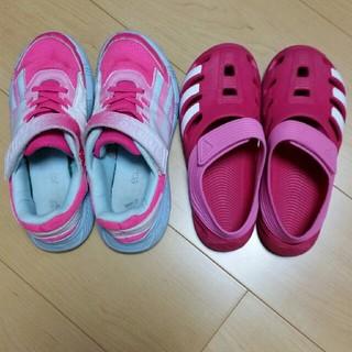 アディダス(adidas)の【あやたむ様専用】アディダススニーカー・サンダル22㎝(スニーカー)