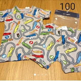 ベビーギャップ(babyGAP)の新品☆100 ベビーギャップ 半袖 パジャマ/肌着(パジャマ)