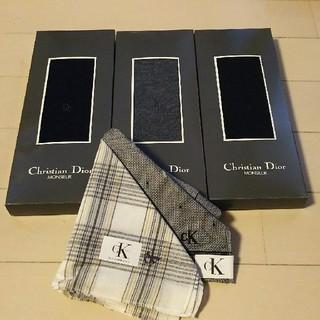 クリスチャンディオール(Christian Dior)のメンズ靴下とハンカチのセット(ソックス)