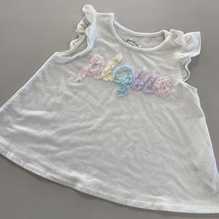 ジェラートピケ(gelato pique)のジェラートピケ シフォンロゴTシャツ 80から90cm(Tシャツ/カットソー)
