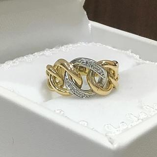 K18/PT ダイヤ リング  喜平デザイン(リング(指輪))