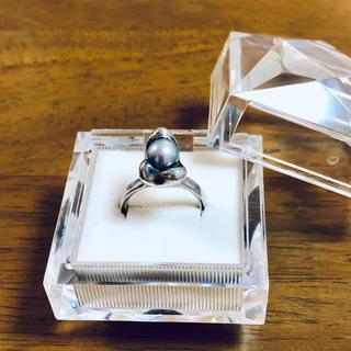デザインリング ブルーグレー本真珠 12号(リング(指輪))