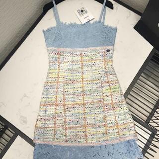 シャネル(CHANEL)のCHANEL吊りスカート  (ひざ丈スカート)
