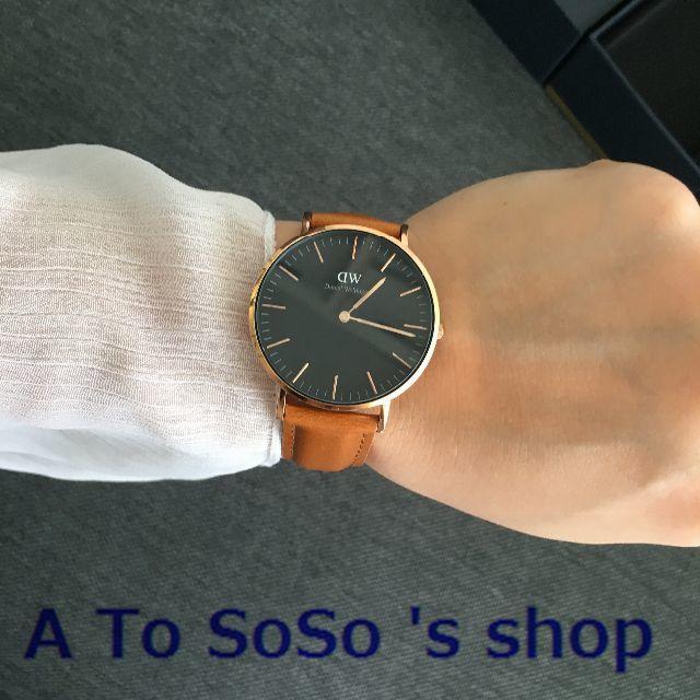 Daniel Wellington(ダニエルウェリントン)の限定お値下げ DW CLASSIC  BLACK  DURHAM 36ミリ メンズの時計(腕時計(アナログ))の商品写真