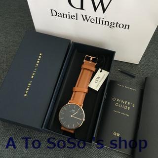 ダニエルウェリントン(Daniel Wellington)の限定お値下げ DW CLASSIC  BLACK  DURHAM 36ミリ(腕時計(アナログ))